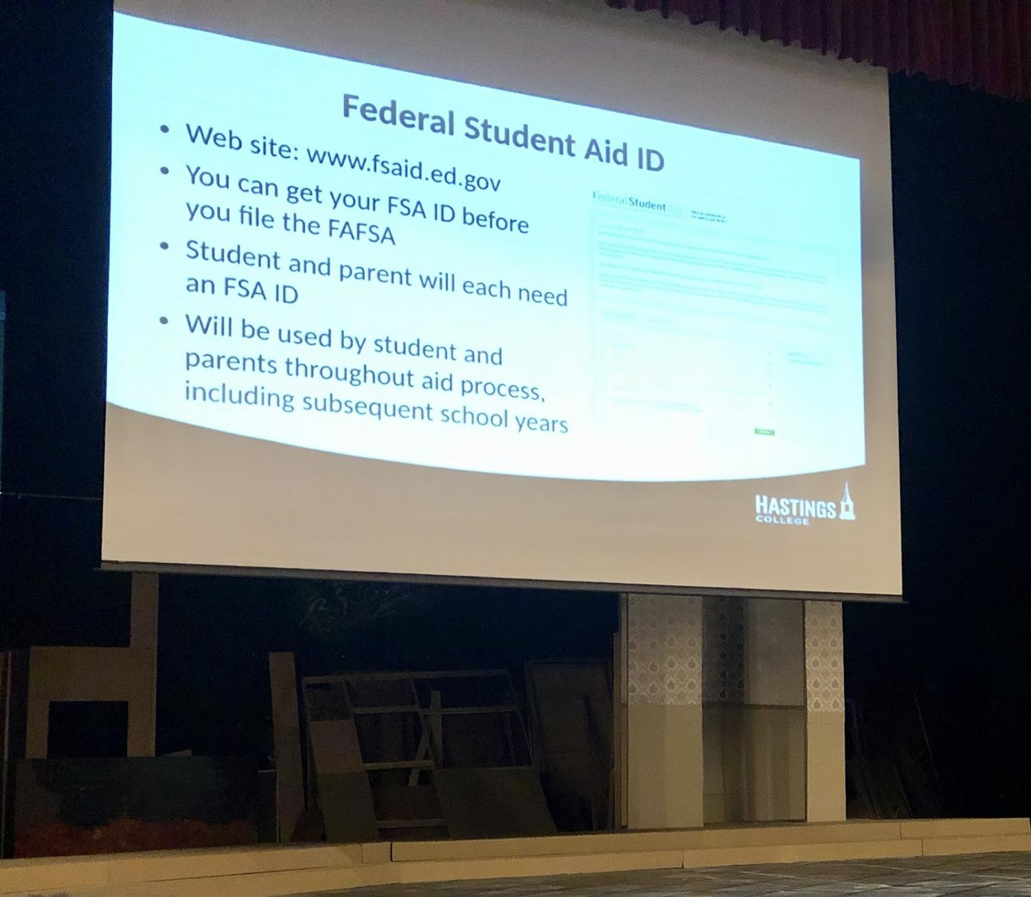 FAFSA requires an FSA, or Federal Student Aid, ID in order to sign the FAFSA application online. Without the ID, the application will have to be manually signed by the student, which can take 6 weeks to a month to complete.