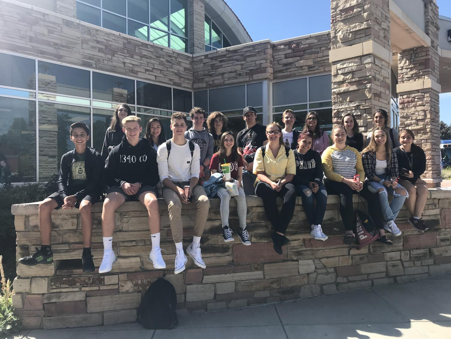 DRHS students from broadcast, journalism and yearbook classes spent the day at CSU for J-Day.