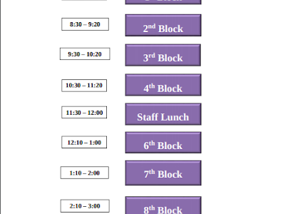 Friday synchronous remote learning schedule at Dakota Ridge High School gives students a structured day with all classes to attend.