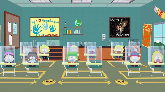 """The Pandemic Special,"" an episode bringing Covid-19 to the small town of South Park, can be found on the"