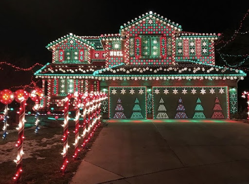 """The Hazards Gingerbread House is a great place to visit and bring happiness to families and friends from local areas. The house was named by a neighborhood girl named Lily. She said, I love the Gingerbread House, and I about fell over. I didn't realize what I had been creating,"""" homeowner Walt Hazard said."""