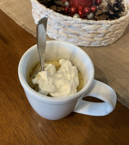 With dozens of topping and filler options, this vanilla mug cake allows for creativity and the ability to include many favorite flavors.