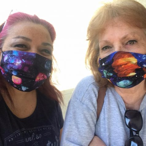 Tammy and Sharon, mask makers.