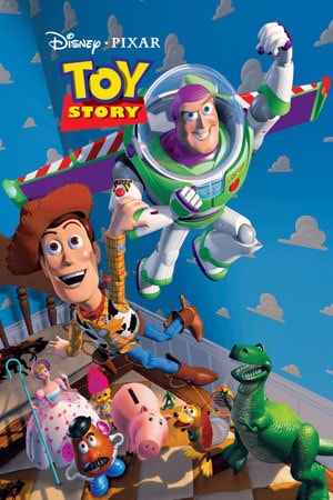 Pixar's first animated full length movie, Toy Story, conveys lessons of friendship and loyalty with characters that appeal to a younger generation.