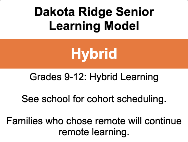 Dakota Ridge Reopens For Hybrid Learning