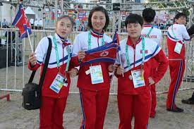 Some North Korean youth participants at the closing ceremony of the 2018 Summer Youth Olympics.