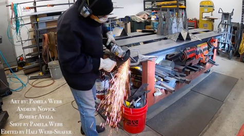 Pamela Webb, welding the individual points of the Celebrity Sports Center star