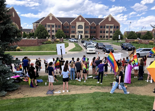 Students at Valor Christian High School walked-out in support of coaches Inoke Tonga and Lauren Brenner.
